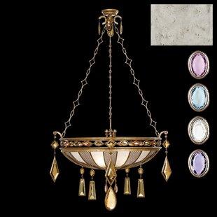Encased Gems 3-Light Bowl Pendant by Fine Art Lamps