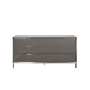 Wade Logan Keynsham 6 Drawer Double Dresser