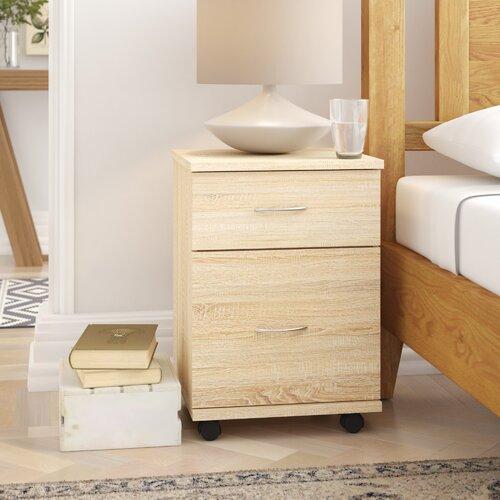 Nachttisch Caples | Schlafzimmer > Nachttische | Eiche | Marlow Home Co.