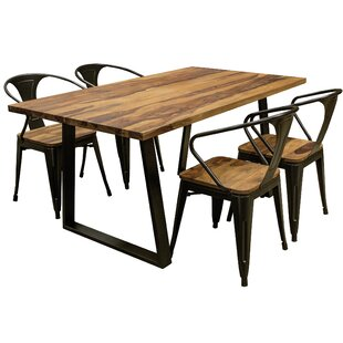 Robertson 5 Piece Solid Wood Dining Set