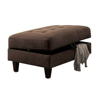 Riey Upholstered Button Tufted Storage Ottoman by Wrought Studio