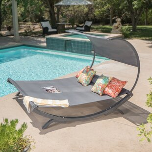 Beachcrest Home Maura Double Chaise Lounge with Cushion