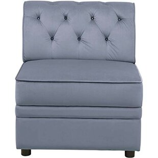 House of Hampton Micky Velvet Modular Tufting Slipper Chair