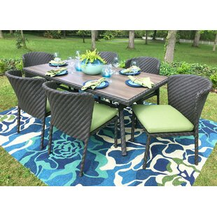 AE Outdoor Elaine 7 Piece Dining Set with..