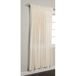 Zepperen Solid Rod Pocket Single Curtain Panel
