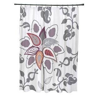 Orchard Lane Polyester Paisley Pop Floral Single Shower Curtain