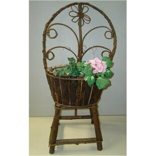 August Grove Nevers Twig Round Wood Pot Planter