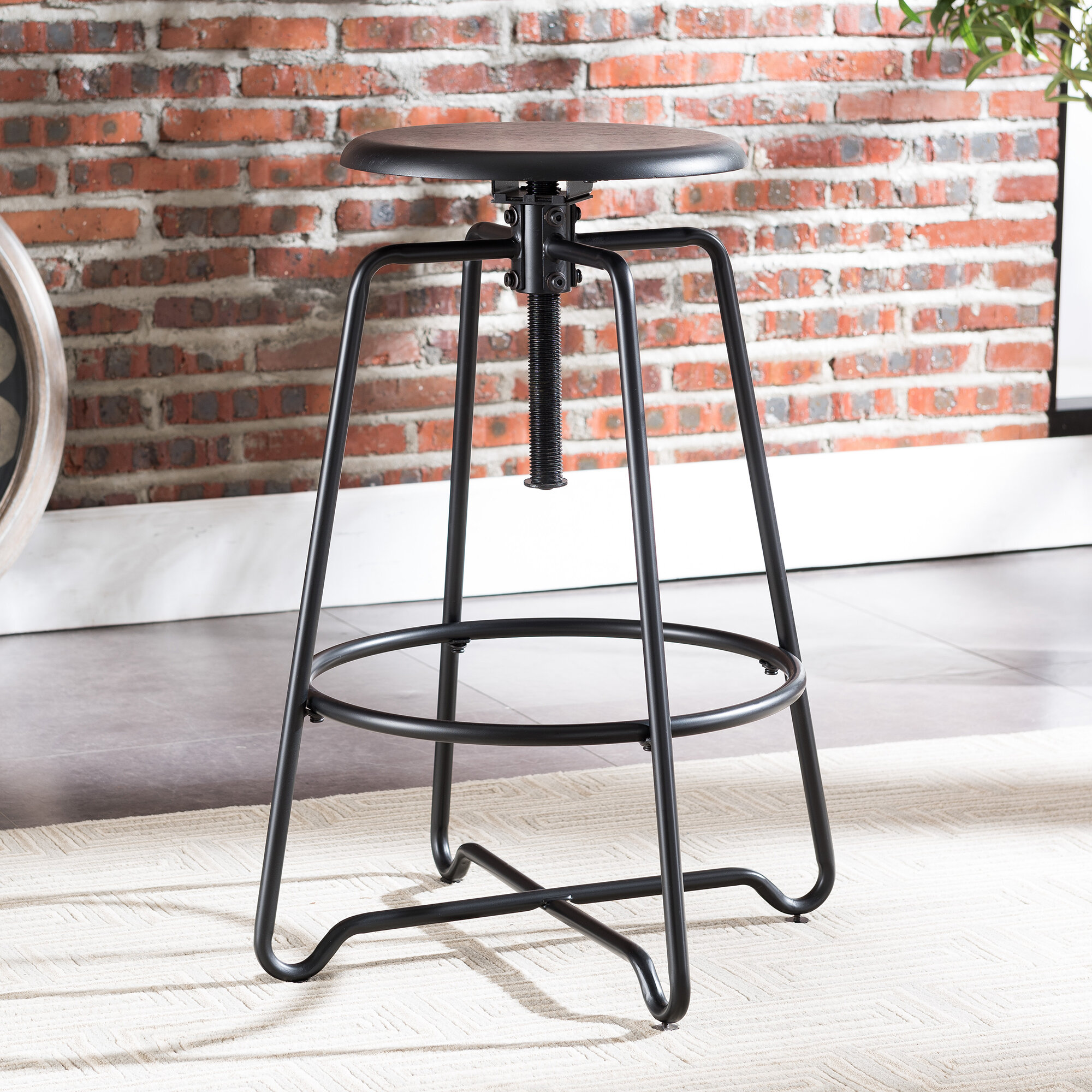Pleasant Industrial Pedestal Bar Stools Youll Love In 2019 Wayfair Alphanode Cool Chair Designs And Ideas Alphanodeonline