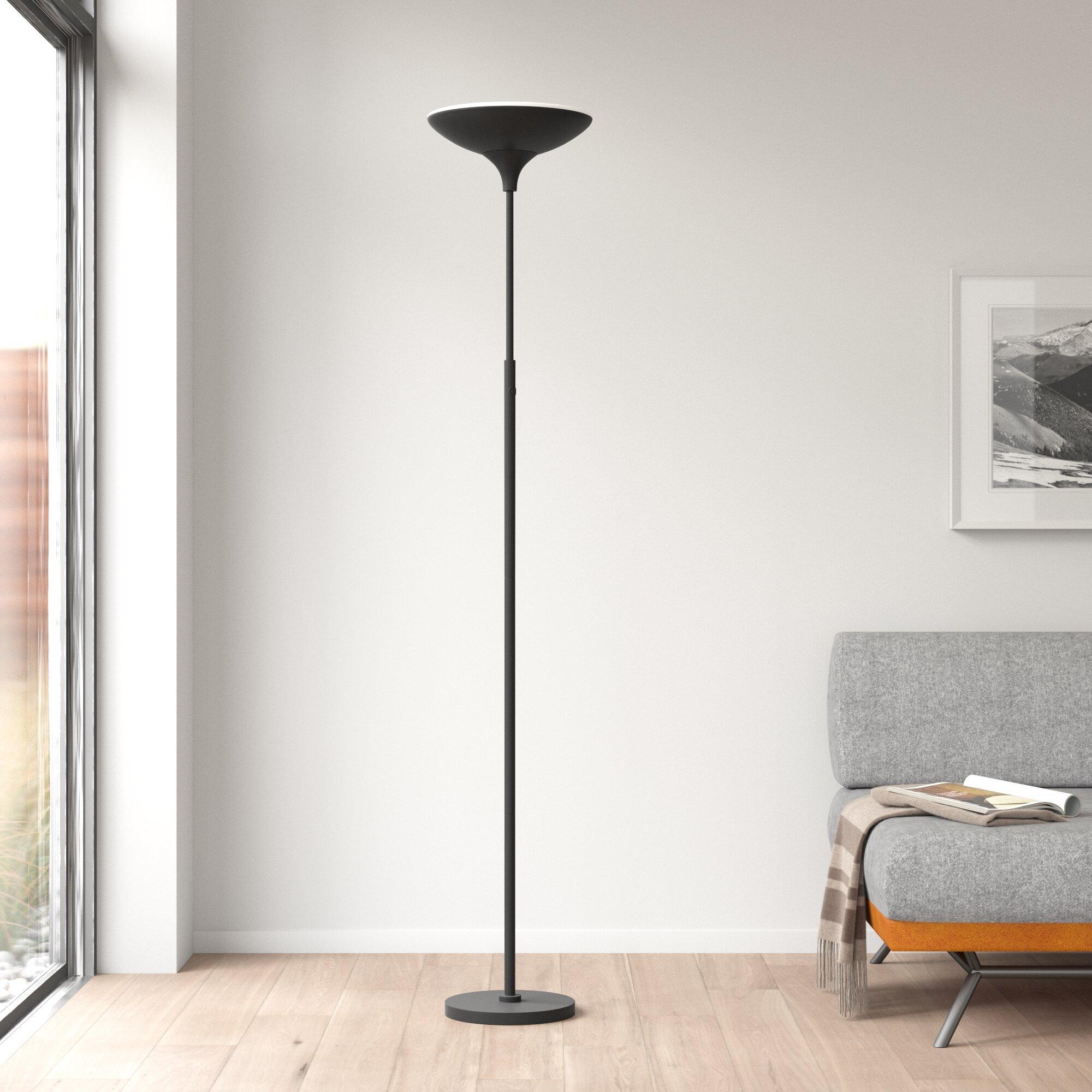 Dustin 71 Led Torchiere Floor Lamp Reviews Allmodern