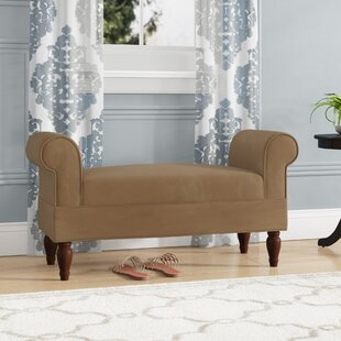 Carreras Upholstered Bench by Alcott Hill