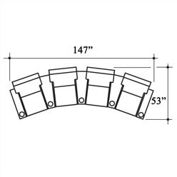 Celebrity Home Theater Row Seating (Row Of 4) By Bass