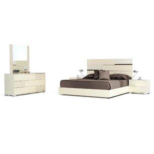 Orren Ellis Camron 3 Drawer Wood Dresser with 2 Nightstands