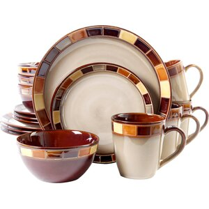 Martha 16 Piece Dinnerware Set, Service for 4