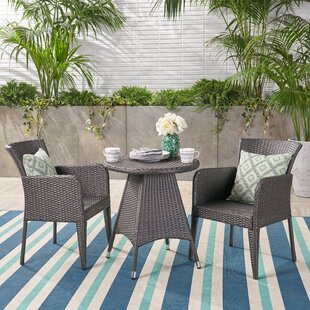 August Grove Ruthie Outdoor 3 Piece Bistro Set