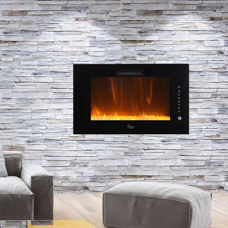 Bwood Wall Mounted Electric Fireplace