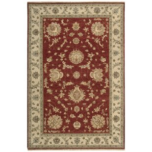 Comparison Degory Hand-Knotted Red Area Rug By Darby Home Co