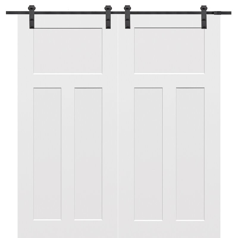 Craftsman MDF 3 Piece Primed Interior Barn Door Set