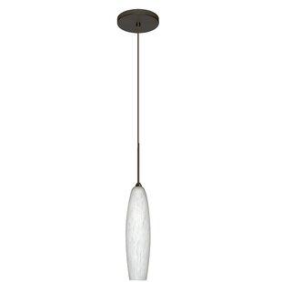 Zumi 1-Light Cylinder Pendant by Besa Lighting
