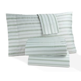 Panama Jack Home Hampton Stripe 300 Thread Count 100% Cotton Sheet Set