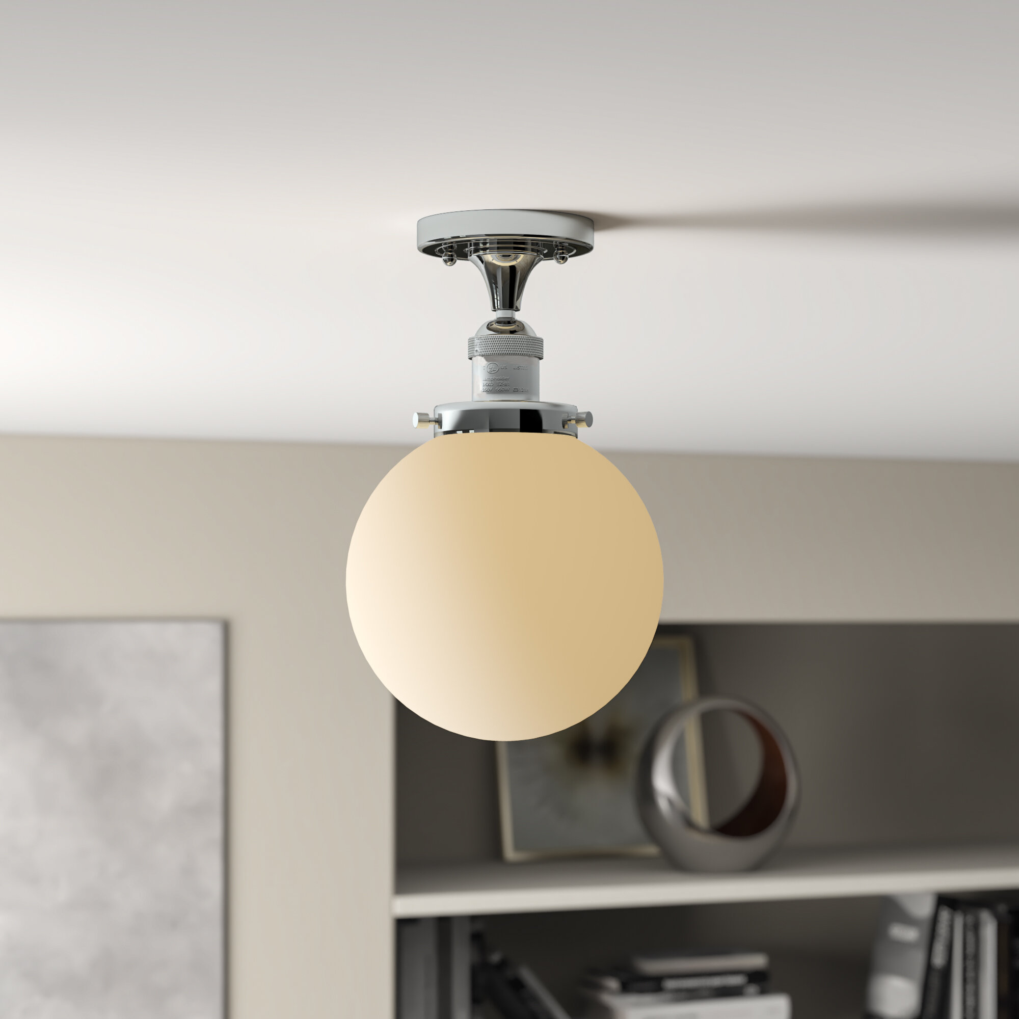 Wrought Studio Adelaida 1 Light 8 Simple Globe Semi Flush Mount Reviews Wayfair