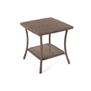 Denham Wicker Side Table By Highland Dunes