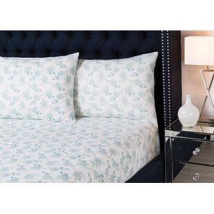 Rushing 4 Piece Floral Flannel Sheet Set