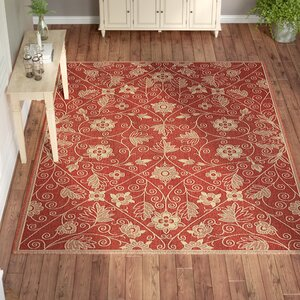 Boyster Red Indoor/Outdoor Area Rug