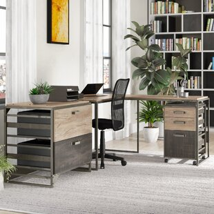 Edgerton 3 Piece L-Shaped Desk Office Suite by Greyleigh Best