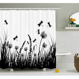 Faya Grass Bush Meadow Spring Single Shower Curtain