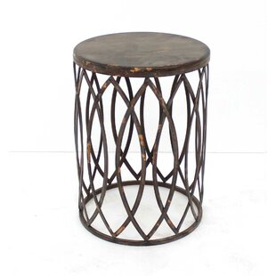 Shirey Barrel-Like End Table by World Menagerie