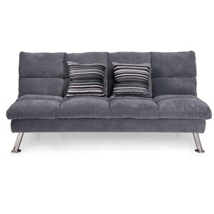 Jena Fabric Sleeper Sofa with 2 Pillows by Ebern Designs