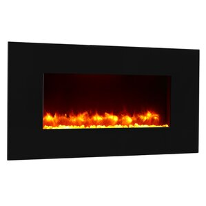 Remote Control Wall Mount Electric Fireplace by Puraflame
