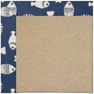 Lisle Machine Tufted Pitch/Brown Indoor/Outdoor Area Rug by Longshore Tides