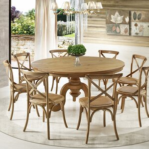 Round Dining Room Tables For 8 8 + seat round kitchen & dining tables you'll love | wayfair
