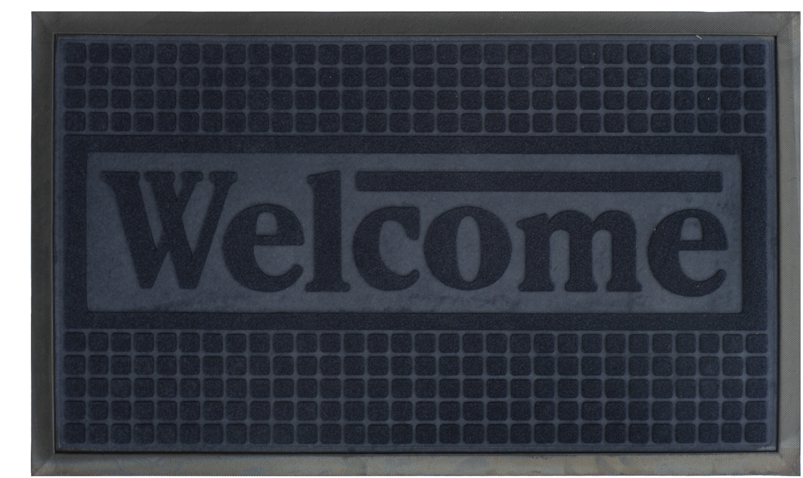 Ship from US Attraction Design Rubber Backed Rug Engraved Doormat
