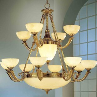 Classic Lighting Valencia 17-Light Shaded Chandelier