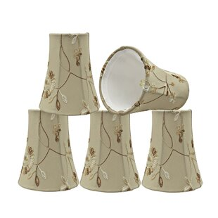 Floral 4'' Fabric Bell Lamp Shade (Set of 5)