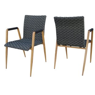 Crewe Wicker Patio Dining Chair (Set of 2)