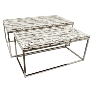 Paladino Wood and Metal Nesting Tables by Loon Peak
