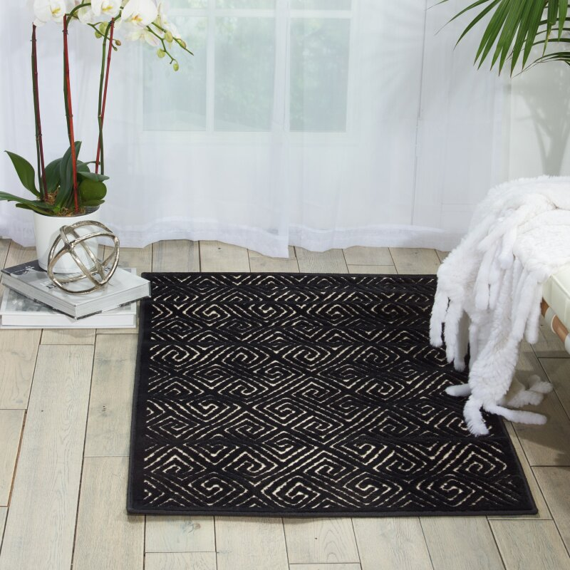 Willa Arlo Interiors Blondelle Black Area Rug Wayfair