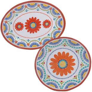 Great Price Fullilove 2 Piece Melamine Platter Set By August Grove