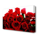 Roses Canvas Picture Pretty White Rose Panorama Picture Flowers Picture XXL Flower Teapot