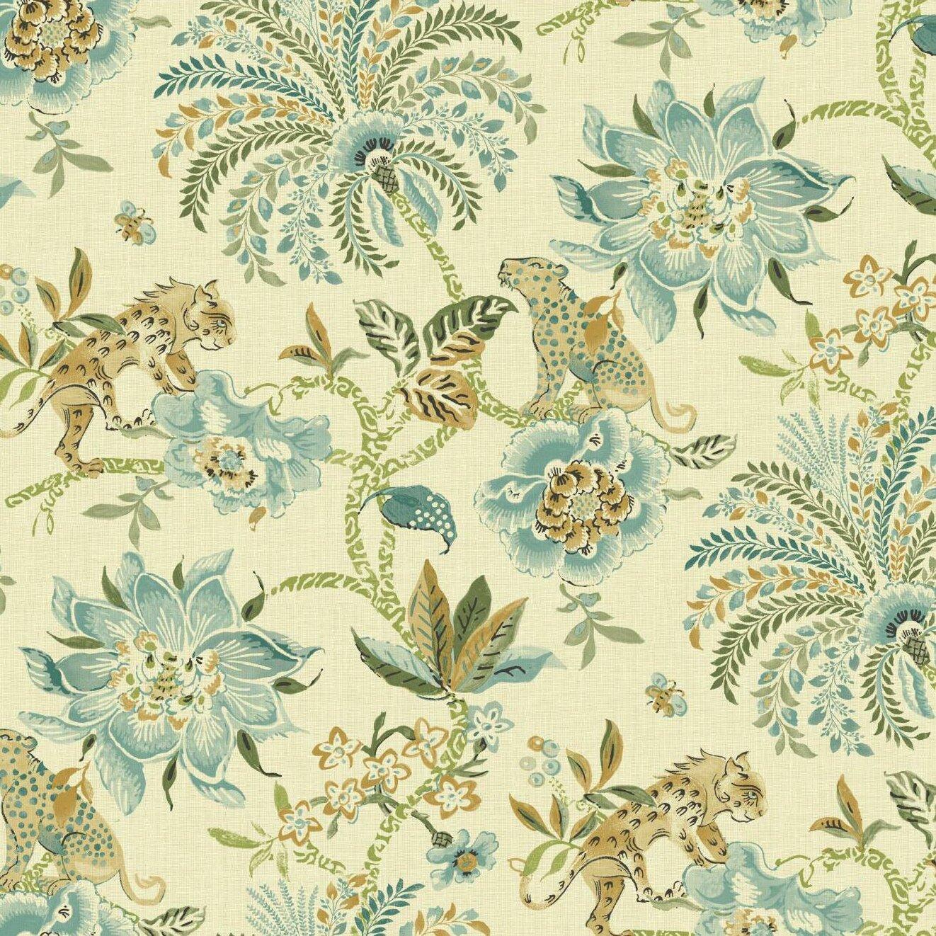 York Wallcoverings Williamsburg II 27 X Braganza Flower Texture Wallpaper Reviews