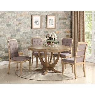 Adkinson 5 Piece Solid Wood Dining Set