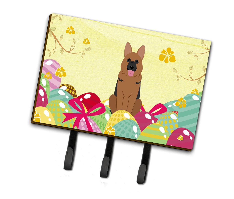 The Holiday Aisle Easter Eggs German Shepherd Leash Or Key Holder Wayfair