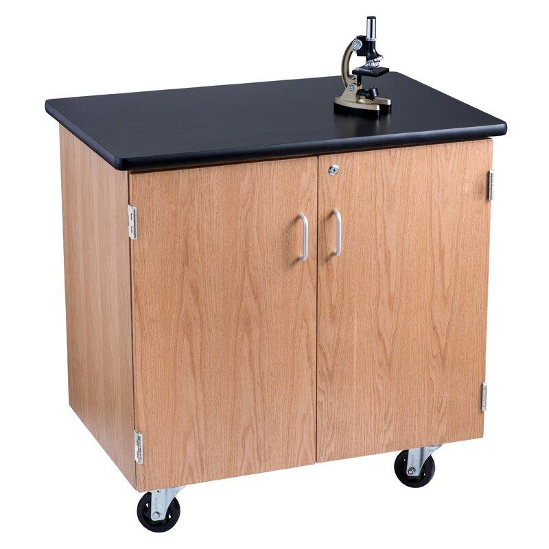 Mobile Science Lab Storage Cabinet Workstation