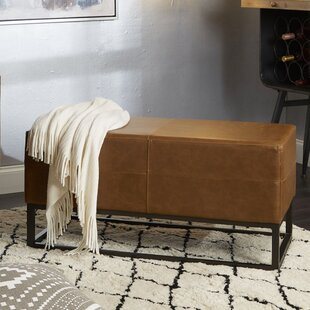 Williston Forge Selph Faux Leather Bench