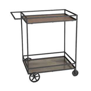 Desilets Lifestyle Trolley Bar Cart by 17 Stories