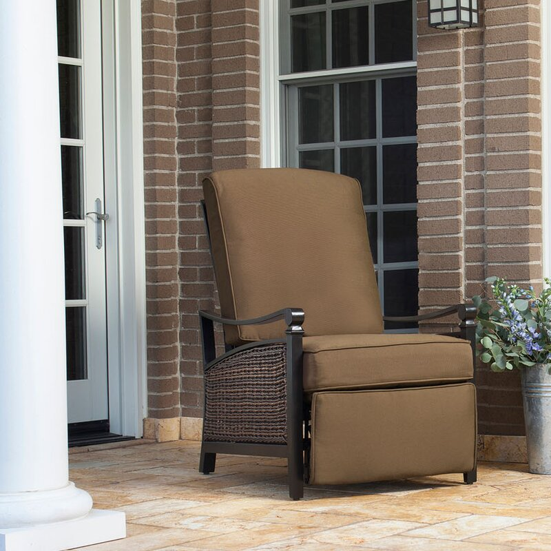 Carson Luxury Outdoor Recliner Chair With Cushion Part 54