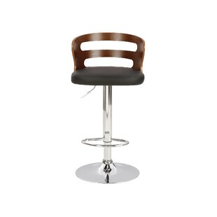 Erith Height Adjustable Swivel Bar Stool By Wade Logan